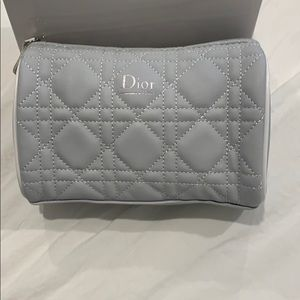 Dior Beaute Quilted Cosmetic Bag Light Gray